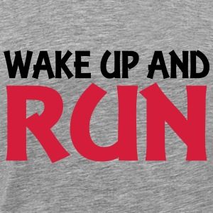 Wake up and run Gensere - Premium T-skjorte for menn