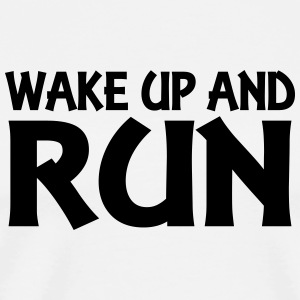 Wake up and run Tops - Men's Premium T-Shirt