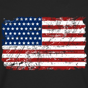 USA Flag - Vintage Look Tank Tops - Men's Premium Longsleeve Shirt