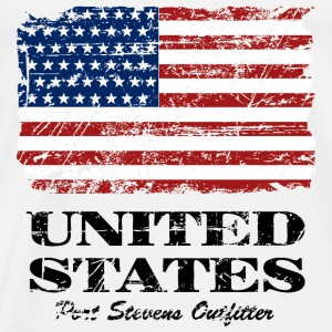 USA Flag - Vintage Look Topper - Premium T-skjorte for menn
