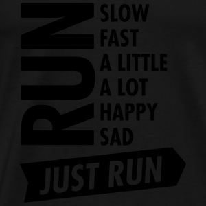 Just Run Toppe - Herre premium T-shirt
