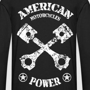 American motorcycles power 02 Tee shirts - T-shirt manches longues Premium Homme
