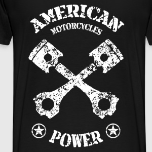 American motorcycles power 02 Hoodies & Sweatshirts - Men's Premium T-Shirt