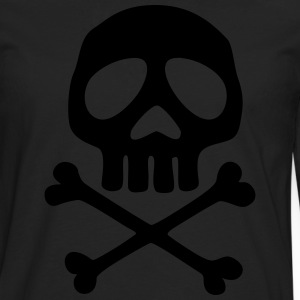 Skull and crossbones, pirate, anime, space captain Tee shirts - T-shirt manches longues Premium Homme