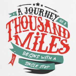 White A journey of thousand miles Mugs & Drinkware - Cooking Apron