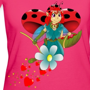 fee coccinelle Manches longues - T-shirt Bio Femme