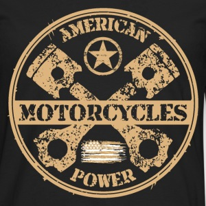 american motorcycles power 04 Tee shirts - T-shirt manches longues Premium Homme
