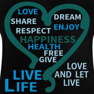 Happiness Respect Dream Heart T-shirts - Baby-T-shirt