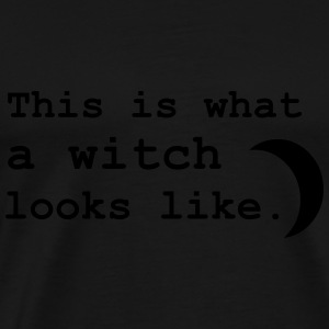 This is what a witch looks like. Hoodies & Sweatshirts - Men's Premium T-Shirt