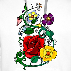 Badges Flowers - Men's Premium Hoodie