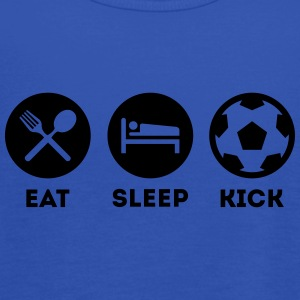 EAT SLEEP KICK FUSSBALL SOCCER T-Shirts - Frauen Tank Top von Bella