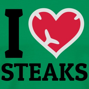 I love Steaks j'adore les steaks Tabliers - T-shirt Premium Homme