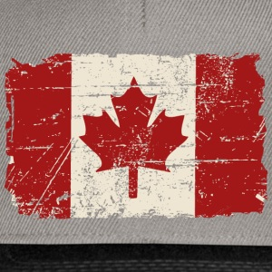 Canada Flag - Vintage Look Tee shirts - Casquette snapback