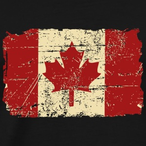 Canada Flag - Vintage Look Long Sleeve Shirts - Men's Premium T-Shirt