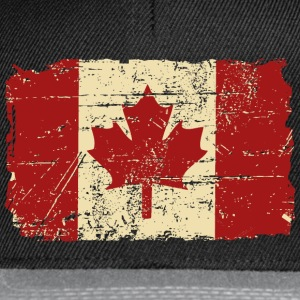 Canada Flag - Vintage Look Manches longues - Casquette snapback