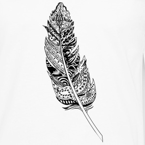 feather decorated with ornaments T-Shirts - Men's Premium Longsleeve Shirt