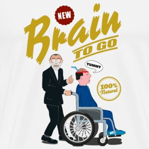 Brain to go - 100% Natural Other - Men's Premium T-Shirt