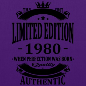 Limited Edition 1980 Camisetas - Bolsa de tela