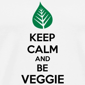 Keep Calm And Be Veggie Kopper & tilbehør - Premium T-skjorte for menn