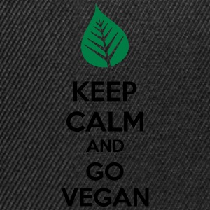Keep Calm And Go Vegan Topper - Snapback-caps