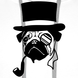 Mister Mops - Sir Pug T-Shirts - Men's Premium Hoodie