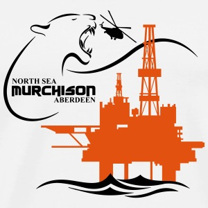 Oil Rig Oil Field North Sea CAP - Men's Premium T-Shirt