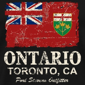 Ontario Flag - Canada - Vintage Look Manches longues - T-shirt Premium Homme