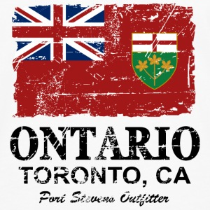 Ontario Flag - Canada - Vintage Look Sweat-shirts - T-shirt manches longues Premium Homme