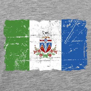 Yukon Flag - Canada - Vintage Look Long sleeve shirts - Men's Premium T-Shirt