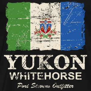 Yukon Flag - Canada - Vintage Look Hoodies & Sweatshirts - Men's Premium T-Shirt