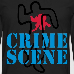 crime scene Tee shirts - T-shirt manches longues Premium Homme