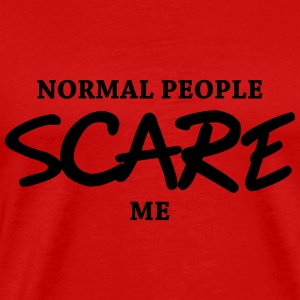 Normal people scare me Manga larga - Camiseta premium hombre