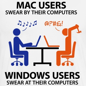 Mac users swear by their computers  Aprons - Men's Premium T-Shirt
