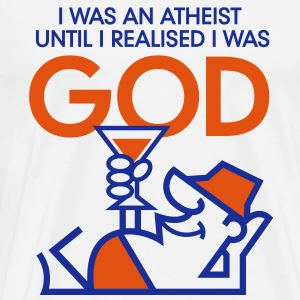 I was an atheist until I realized that I am God Long Sleeve Shirts - Men's Premium T-Shirt