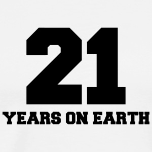 21 years on earth Tops - Mannen Premium T-shirt