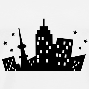 A City Skyline Skjorter - Premium T-skjorte for menn