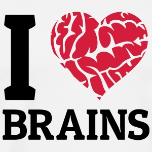 I love Brains Tops - Männer Premium T-Shirt