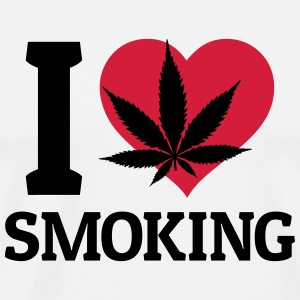 I love smoking ik hou van roken Tops - Mannen Premium T-shirt