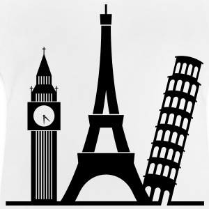 Europa / London / Paris / Pisa Langærmede shirts - Baby T-shirt