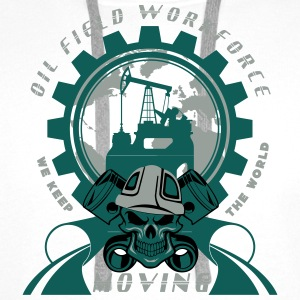 Oil Rig Oil Field North Sea CAP - Men's Premium Hoodie