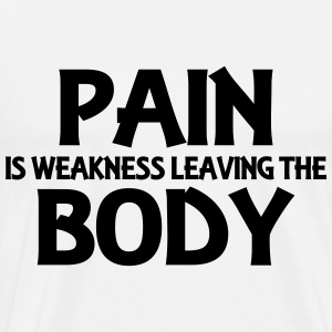 Pain is weakness leaving the body Långärmade T-shirts - Premium-T-shirt herr