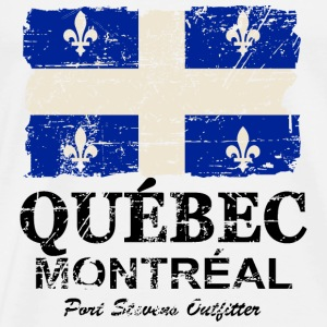 Québec  Flag - Canada - Vintage Look Hoodies & Sweatshirts - Men's Premium T-Shirt