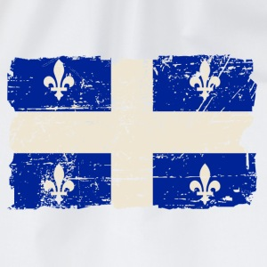 Québec  Flag - Canada - Vintage Look Canotte - Sacca sportiva