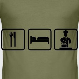 Eat Sleep Cook Bags & Backpacks - Men's Slim Fit T-Shirt