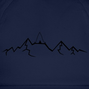 Alps mountains tent tents top mountains at T-Shirts - Baseball Cap