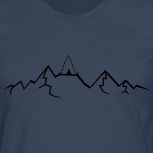 Alps mountains tent tents top mountains at T-Shirts - Men's Premium Longsleeve Shirt