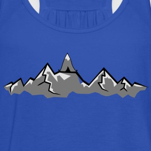 Alps mountains tent tents top mountains at T-Shirts - Women's Tank Top by Bella
