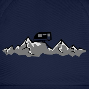 Mountains Alps Caravans above mountains at T-Shirts - Baseball Cap