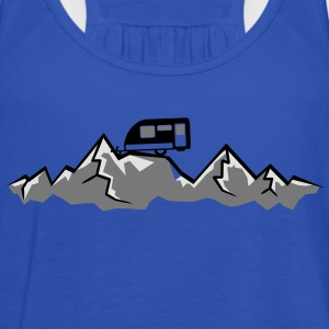 Mountains Alps Caravans above mountains at T-Shirts - Women's Tank Top by Bella