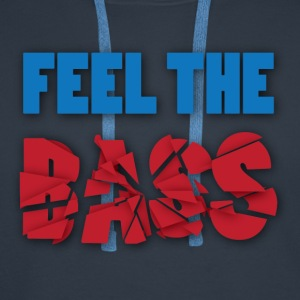 Feel the bass - Mannen Premium hoodie